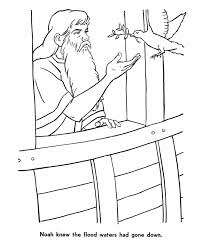 Kleurplaat Noach En De Duif Terug Noach Bible Bible Stories