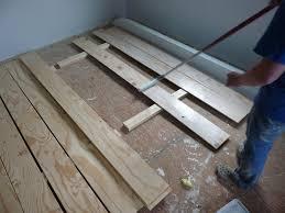 white washing plywood plank flooring