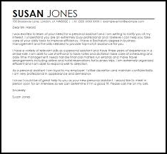 sample cover letter for a personal assistant sample cover letters uk