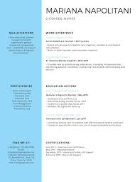 Nursin Resume Professional Licensed Nurse Resume Templates By Canva