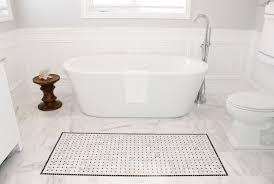 bathroom marble tile design ideas vessel shape bathtub shower with glass door built in storage cabinets