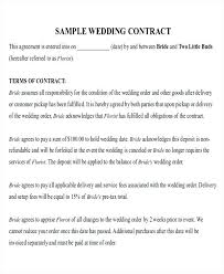Catering Agreement Wedding Catering Contract Sample Templates Template Of Form