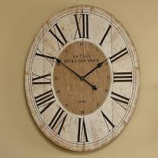 large oval wooden wall clock melody