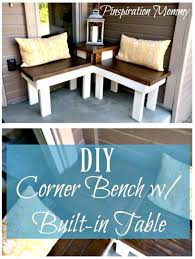 Build a Corner Bench with Built-in Table - 10 DIY Corner Bench Ideas for  Indoor & Outdoor - DIY & Crafts | Banc d'angle, Construire un banc, Banc