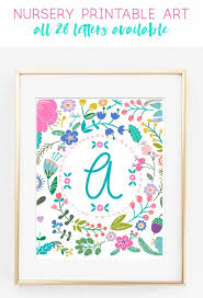nursery decor girl nursery alphabet art wall art home decor baby