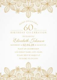 Golden Lace 40th Birthday Invitations Elegant Luxury Invitation Beauteous Online Birthday Invitations Templates