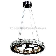china 2018 new led decoration circle lamp indoor k9 crystal acrylic chandelier hanging light
