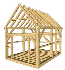 Small Picture 12x16 Timber Frame Shed Plans Roof pitch Cabin and Beams