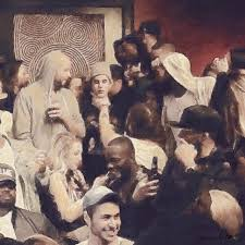 this picture of justin bieber getting choked at a nightclub looks like a renaissance painting pics