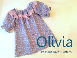 Peasant Dress Pattern Unique Olivia Girl's Ruffled Peasant Dress PDF Pattern Girl