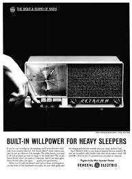 General Electric C 445 Clock Radio 1961 Vintage Stuff