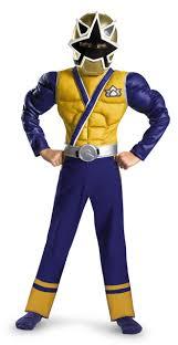 Light Blue Power Ranger Costume Power Ranger Samurai Gold Ranger Muscle Kids Costume Kids