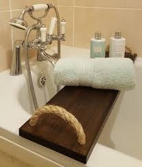solid pine bathtub caddy over bath tray rack bath bridge handmade wooden with rope handles clawfoot tub wine glass shampoo tablet phone book holder