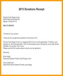 charitable contribution receipt letter tax receipt for charitable donation receipts for charitable