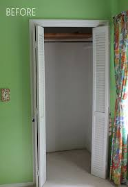 one look at this closet and i knew i wanted to add shelves to the side walls so there would be no wasted space the side shelves wouldn t be very deep