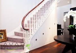 Under stairs storage solutions in London staircase