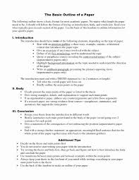 Examples Research Paper Outlines In Apa Format Simple Template Design