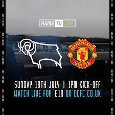 Live Stream Information: Derby County Vs Manchester United - Blog - Derby  County