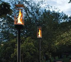 4 Green Wine Bottle Tiki Torches Outdoor Lighting HangingBackyard Torch