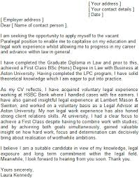Paralegal Cover Letter Sample Best Solutions Of Speculative Cover