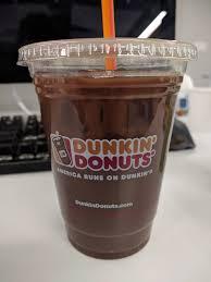 dunkin donuts iced coffee thin mint