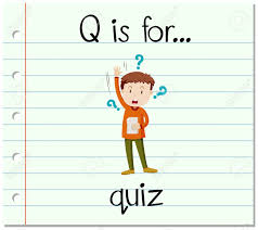Flashcard Letter Q Is For Quiz Illustration Royalty Free Cliparts