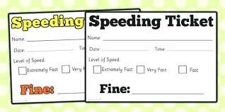 Play Ticket Template Play Ticket Template Car Speeding Ticket Role Play Speeding Car