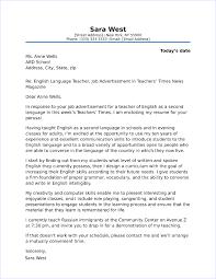 Cover Letter For Efl Teachers Esl Instructor Cover Letter