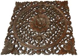 image is loading asian carved wood wall decor plaque floral wood  on asian carved wood wall art with asian carved wood wall decor plaque floral wood wall art panel