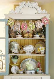 Easter Decorating Ideas China Cabinet Living Rooms Thoughts