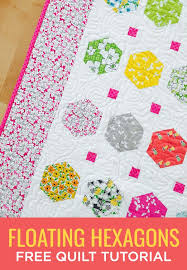 Make a Floating Hexagons Quilt with this Easy (and Free!) Video ... & Make a Floating Hexagons Quilt with this Easy (and Free!) Video Tutorial! Adamdwight.com