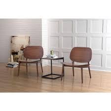 zuo priest walnut wood side chair set of 2