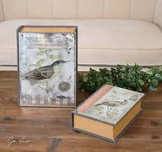 Decorative Display Boxes TWO NEW ANTIQUED DECORATIVE STORAGE DISPLAY BOXES WITH VINTAGE 78
