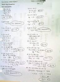 famous infinite algebra 1 multi step equations images worksheet