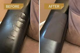 fix leather couch sofa rip repairing furniture rips re scratches s