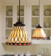 replace any recessed light with this in stained glass pendant light
