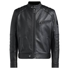 belstaff riser leather jacket black main