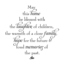 Blessed Family Quotes Cool May This Home Be Blessed Diamond Wall Quotes™ Decal WallQuotes