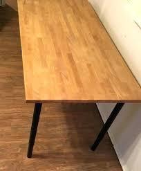 desk 5 foot wood table with legs furniture in top ikea gerton reddit butcher block