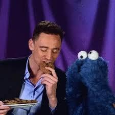 cookie monster tom hiddleston gif. Wonderful Cookie Tom Hiddleston Loki GIF  TomHiddleston CookieMonster GIFs Throughout Cookie Monster Gif E