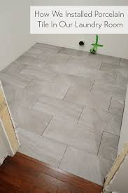 How We Installed Porcelain Tile In Our Laundry
