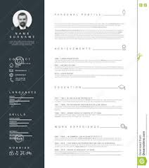 Minimalist Resume Template Minimalist Resume Cv Template With Nice Typography Stock Vector Nice 9