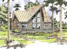 108 1538 this image shows the log home style for this set of house plans