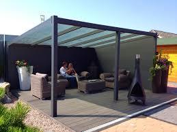 A Glass Prepared Aluminium garden canopy / veranda with a depth of 2.0m,  This