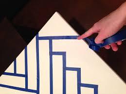 Diy Canvas Painting Herringbone Brick Patterned Art Diy Bunny Baubles