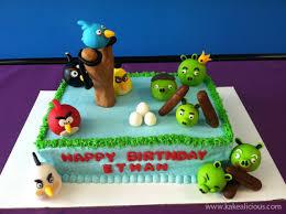 Custom Designed Angry Birds Cake