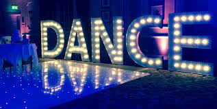 light up letters dance party disco elite sound dance wood hall