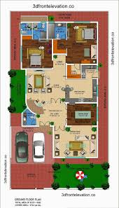 Kanal House Drawing Floor Plans Layout With Basement In DHA - House with basement plans