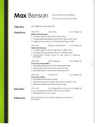 Online Resume Template Free Templates Word Example Basic Picture