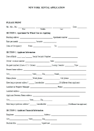 Example Tenancy Application Form Template Rental Agreement